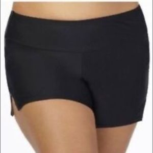 Plus size swimshorts in Black